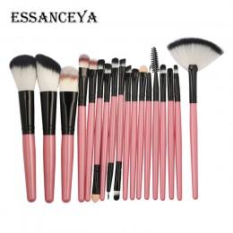 Essenceya 10/15/18 sztuk zestaw pędzli do makijażu Powder Foundation Eyeshadow pędzel mieszający kosmetyki narzędzia pędzle do m