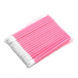 50 sztuk jednorazowe kosmetyczne makijaż szczotka do ust szminka wargi błyszczące różdżki Pen Cleaner aplikator Eyeshadow błyszc