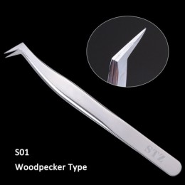 STZ 1 sztuk pincety przedłużanie rzęs ze stali nierdzewnej prosto zakrzywione lokówki do rzęs fałszywe klip makijaż narzędzia do