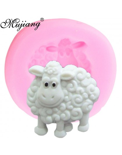 Owce silikonowe formy 3D zwierzęta cukierki fondant czekoladowy formy DIY dziecko narzędzia do dekorowania tortów urodzinowych c
