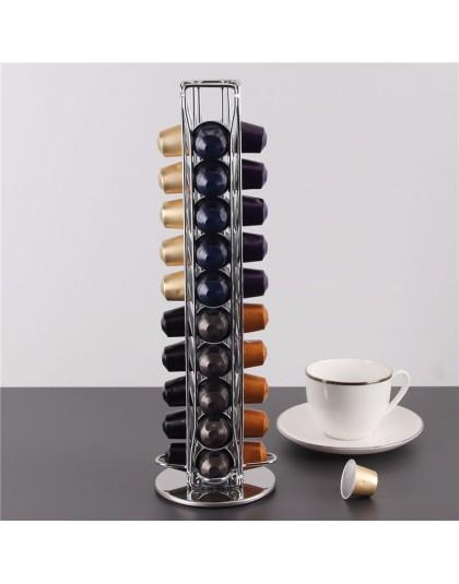 40 filiżanek Nespresso uchwyt na kapsułki kawy obrotowy stojak kapsułka z kawą stojak Dolce Gusto kapsułki uchwyt do przechowywa
