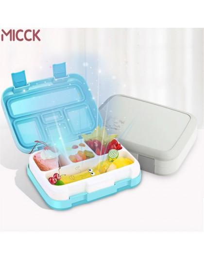 Mick przenośne pudełko na lunch dla dzieci z przedziałem nowy Cartoon do gotowania w mikrofalówce pojemnik bento szczelny pojemn