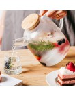 1L/1.5L duże przezroczyste szkło borokrzemianowe czajniczek odporny na ciepło duży przezroczysty dzbanek na herbatę herbata kwia