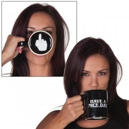 Twórczy miłego dnia kubek kawy środkowy palec zabawny kubek na kawę herbata mleczna kubki nowości na prezent