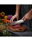 """SUNNECKO profesjonalne 8 """"damaszek Steel Chef nóż japoński VG10 rdzeń ostrze Razor Sharp noże kuchenne G10 uchwyt krajalnica do"""