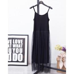 [CHICEVER] 2020 Sexy Off ramię lato kobiety ubierają kobiet luźne z ramiączkami spaghetti, z siatką panie sukienek nowa odzież