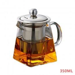 Szkło odporne na ciepło czajniczek z zaparzacz ze stali nierdzewnej podgrzewany pojemnik dzbanek na herbatę dobry przezroczysty