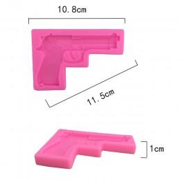 Pistolet-zabawka pistolet kształt kremówki formy silikonowe do ciasta 3D tłoczone foremka do czekolady ciasto foremki do ciastek