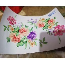 Kolorowe kwiaty 3D naklejki ścienne piękna piwonia naklejki na lodówkę szafa toaleta dekoracja łazienki naklejki ścienne pcv/kle