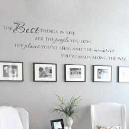 Najlepsze rzeczy w życiu naklejki ścienne winylowe ~ miłość wspomnienia ścienne cytat Home Art Vinyl kalkomania, darmowa wysyłka