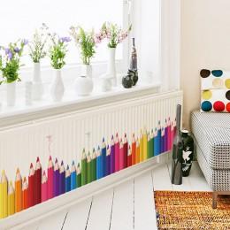 DIY Mural ołówek powrót do szkoły naklejka ścienna wymienny Vinyl artystyczne nalepki ścienne przedszkole do pokoju zabaw Decor
