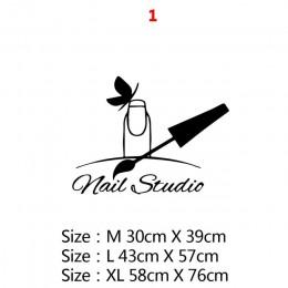 Gorąca sprzedaż Salon kosmetyczny Vinyl naklejka ścienna naklejka Salon paznokci do dekoracja do pokoju dziewczęcego akcesoria S