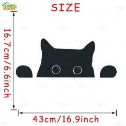 Śliczne kocięta podglądające naklejki ścienne z kotem na pokoje dla dzieci lodówka zwierzęta kreskówkowe kot naklejki ścienne Mu
