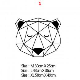 Styl skandynawski geometria naklejka ścienna zwierzęta do dekoracja domu salon dekoracja sypialni naklejki ozdobne naklejki ście