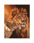 Bezramowe Lion Zwierząt zrób to sam Zestawy Malowanie Numerami Kolorowanki Obraz Olejny Na Płótnie Rysunek Home Artwork Wall Art