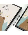 Niedźwiedź królik Fox Deer przedszkole obraz ścienny na płótnie Cartoon Nordic plakaty i druki zdjęcia ścienny dziewczyna chłopi