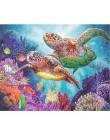 RUOPOTY Rama Sea Turtle zrób to sam Malowanie przez numery Kaligrafia Malowanie farbą akrylową według numerów Kit Home Decor Wal