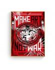 Make Art Not War Pop Art plakat w stylu Vintage drukuje obraz olejny na płótnie Wall artystyczne murale zdjęcia do dekoracji sal