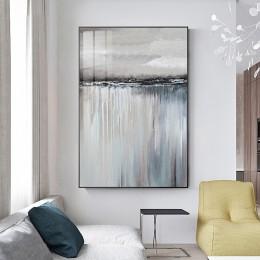 Minimalistyczny abstrakcyjny szary żaglówka odbicie plakat obraz na płótnie salon domu nordycki dekoracyjny naklejki
