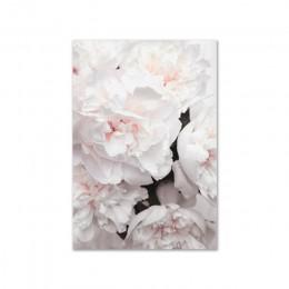 Styl skandynawski piwonia kwiat druk na płótnie duża ściana plakaty i wydruki artystyczne cytat plakat ściana kwiatów zdjęcia do