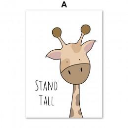Zebra Hippo żyrafa lew krokodyl przedszkole obraz ścienny na płótnie Nordic plakaty i druki ścienne zdjęcia Baby Kids Room Decor