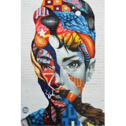 Ulica ściana z graffiti płótno artystyczne drukuje abstrakcyjny pop Art dziewczyny akwarela płótno obrazy na ścianie zdjęcia do