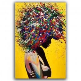 Nowoczesna dziewczęca portret wydruki na płótnie obraz olejny na ścianie plakat artystyczny zdjęcia do biura salon dekoracji wnę