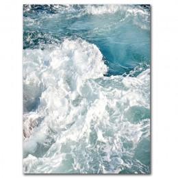 Fala oceaniczna krajobrazy płótno malarstwo Seascape Nordic plakaty i druki dekoracja wnętrz salon obrazy na ścianę Unframed