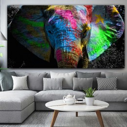 RELIABLI kolorowy obraz słoń plakat ze zwierzętami obraz olejny na płótnie ściany pokój artystyczny obraz do dekoracji dla Hoom