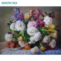 SDOYUNO malowanie numerami 40x50cm obraz olejny numerów zdjęcia na płótnie kwiaty natura zdjęcia według numerów na płótnie dekor