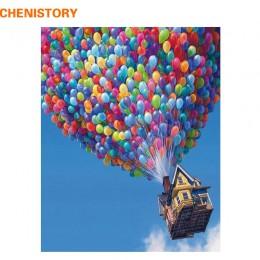 CHENISTORY balon dmuchany ręcznie malowany obrazek według numeru kolorowanki do malowania pejzażowego według numerów zestaw mala