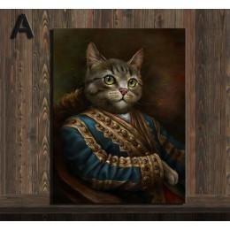 Styl Vintage dekoracje do domu zwierzęta obraz na płótnie kardynał portret kota plakaty Hd drukuj nordic wall art obraz do sypia