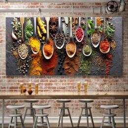 Żywności malarstwo nowoczesne przyprawy plakat na płótnie modułowa obrazek dla kuchni restauracji dekoracji wnętrz Wall Art HD d