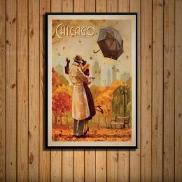 Nowy jork holandia Amsterdam francja Vintage miasta podróży plakat z krajobrazem drukuje malarstwo artystyczne zdjęcia na ścianę