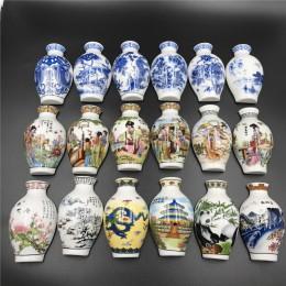 Chiński niebieski i biały waza porcelanowa lodówka pamiątkowy magnes malowane wyroby ceramiczne lodówka magnes zestaw chińskich
