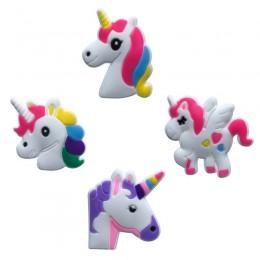 8 sztuk jednorożce magnesy na lodówkę z pcw śliczne naklejki magnetyczne magnes na lodówkę Home dekoracyjne wyroby diy dla dziec