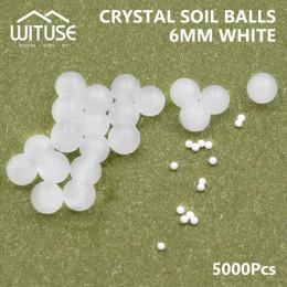 5000 sztuk/partia kryształowe gleby wody koraliki hydrożel żel polimerowe nasiona przepływu błoto rosną kulki wody koraliki rosn