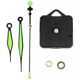 Mechanizm zegara kwarcowego godzina minuta druga igła zielona świecąca ręka zegar ścienny diy części narzędzi