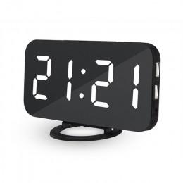 JULY'S SONG lustro budzik cyfrowe zegary LED USB do szybkiego ładowania telefonu elektroniczny zegarek stół drzemka Auto regulow