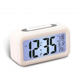 Cyfrowy budzik LED zegar wielofunkcyjny elektroniczny inteligentny cyfrowy wyświetlacz LCD inteligentne uczucie podświetlenie dr