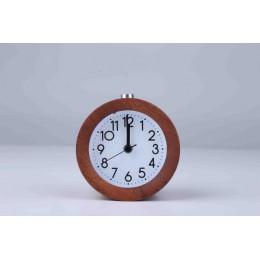 JINSUN drewniany zegar drzemka nocna dzieci budzik okrągła igła podświetlenie zegar na biurko Silent Wood nie tyka despertador