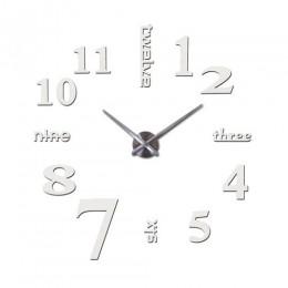 Moda Diy 3d ścienny wzór zegara lustro akrylowe zegary europa naklejki duże dekoracyjne zamontowany elektroniczny zegarek na ści