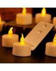 Zestaw 6 migoczących świec zdalnego sterowania do dekoracji walentynkowych, elektrycznych podgrzewaczy bezpłomieniowych, ciepłyc