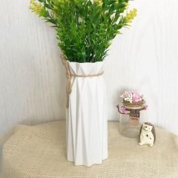 1pc Origami z tworzywa sztucznego szklany wazon biały imitacja ceramiczna doniczka na kwiaty kosz na kwiaty wazon na kwiaty deko