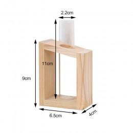 Prosty Nordic szklany wazon butelka z rurką hydroponicznych Terrarium pojemnik do przechowywania wystrój do sypialni salon dekor