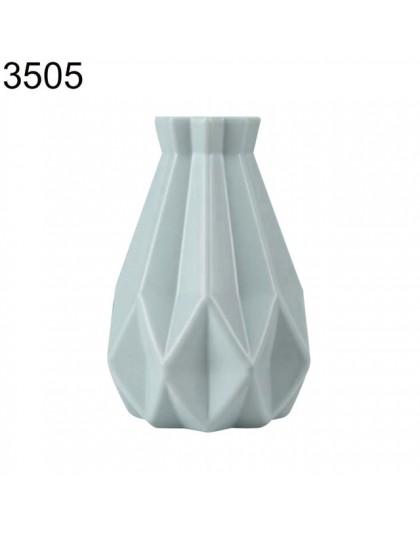Plastikowy nietłukący kwiat wazon do garnka nowoczesny gabinet przedpokój ślub dekoracje do domowego biura wazon stołowy