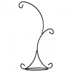 Konstrukcja do zawieszenia 33CM podwójny haczyk metalowy świecznik żelazny świecznik szklany butelkowy stojak na rośliny ślubne