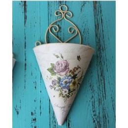 1 sztuk z tworzywa sztucznego wiszący kwiat wazon doniczka wiszący kosz na kwiaty wsi ogród kwiat dekoracyjny do domu kosz wystr