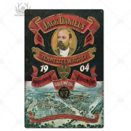 Whisky metalowa plakietka z napisem Metal Vintage Pub retro znak z cyny dekoracje ścienne dla baru Pub Club Man jaskinia płytki
