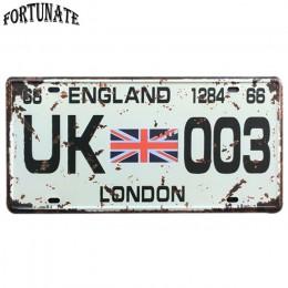 Nowe stany zjednoczone metalowy samochód tablicy rejestracyjnej Vintage Home Decor znak blaszany Bar Pub dekoracyjny metalowy zn